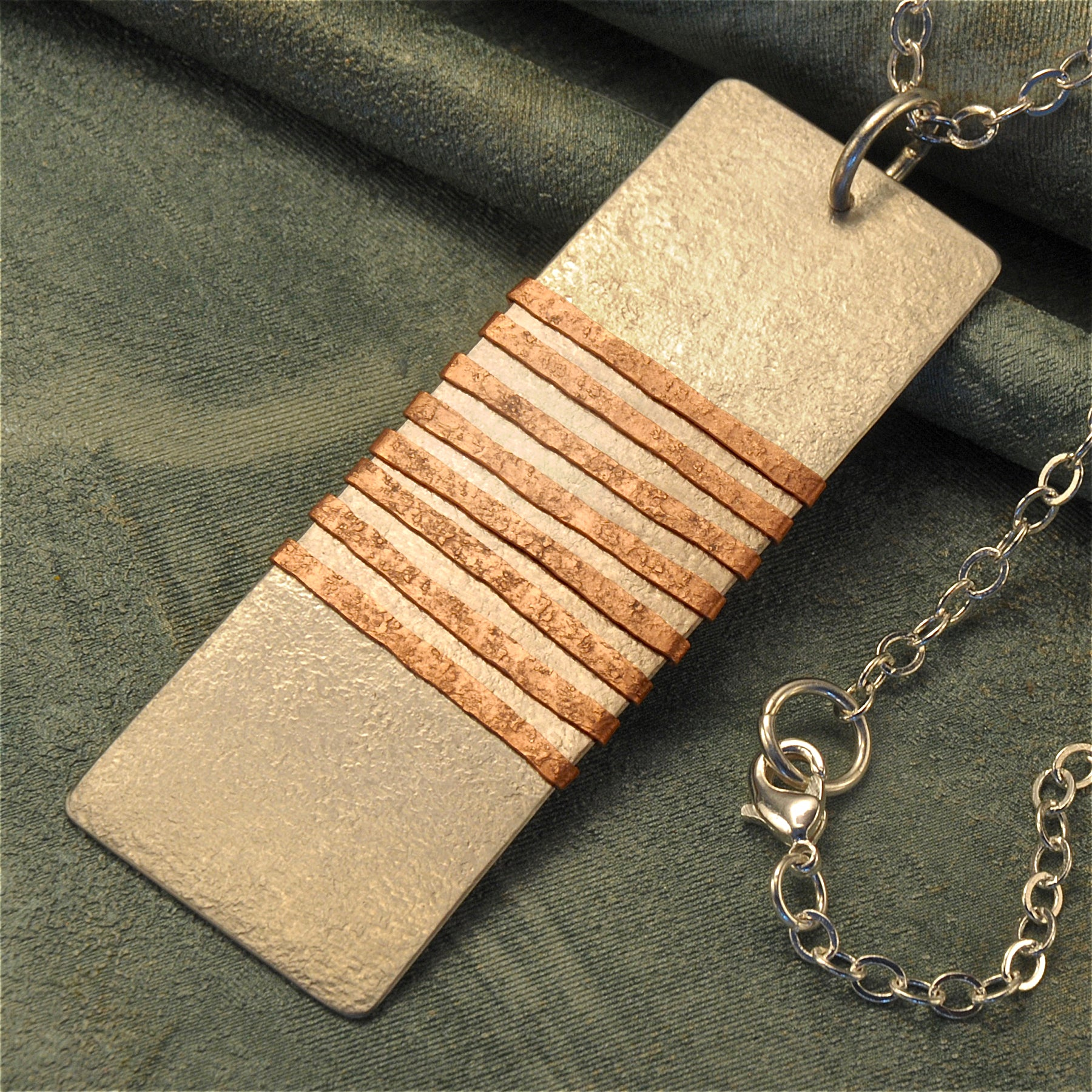 Rectangular stainless steel necklace
