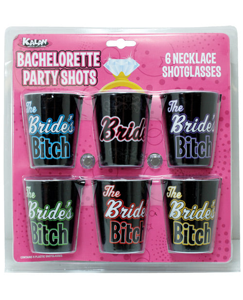 Bachelorette Party Shots The Bride's Bitches - Pack Of 6