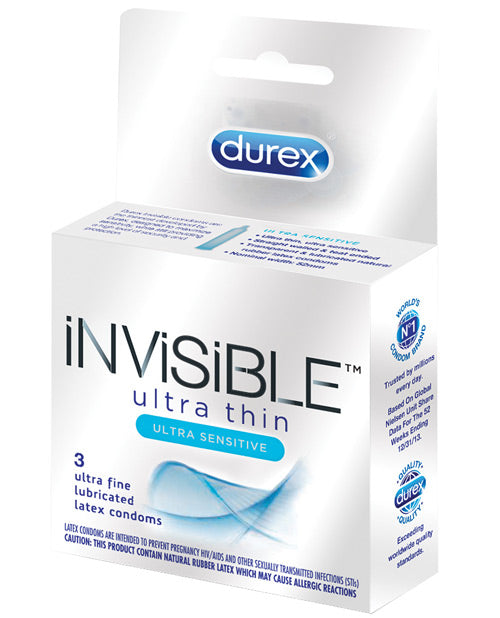 Durex Invisible Ulta Thin Condom - Box Of 3