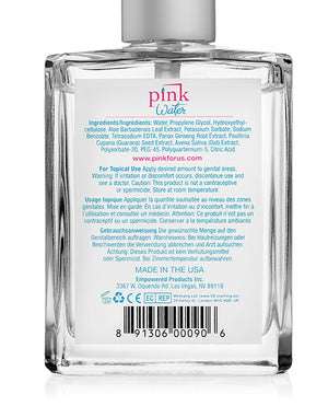 Pink Water Based Lubricant - 4 Oz Bottle W-pump