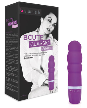 Bcute Pearl Silicone Massager Waterproof - Purple