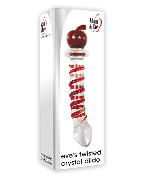 Adam & Eve Eve's Twisted Crystal Dildo - Red