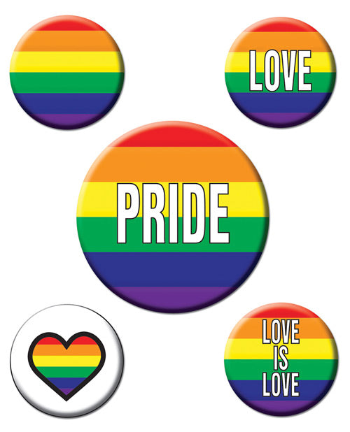 Rainbow Rainbow Party Buttons