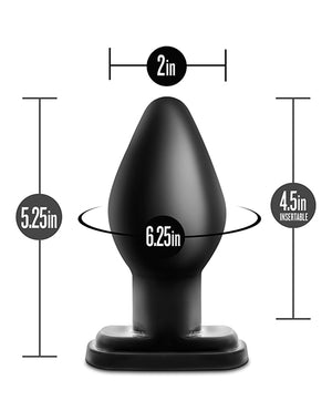 Blush Anal Adventures Xl Plug - Black