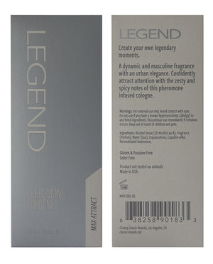 Max Legend Pheromone Cologne - 2 Oz
