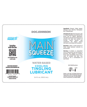 Main Squeeze Cooling-tingling Water-based Lubricant - 3.4 Oz