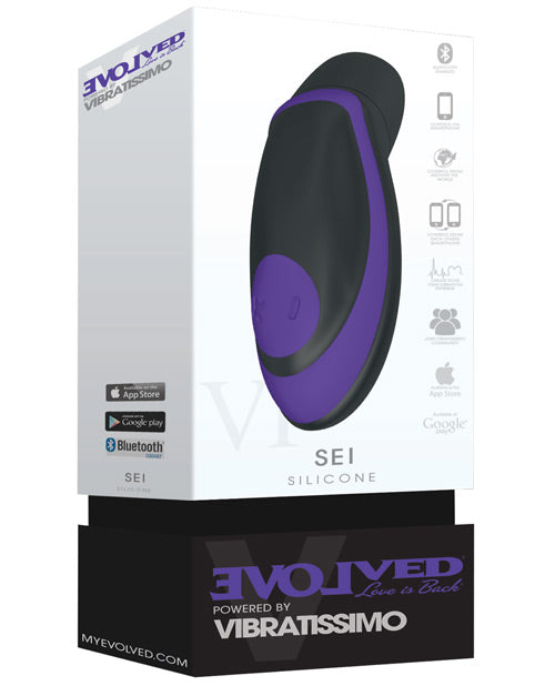 Evolved Vibratissimo Sei Stimulator - Purple-black