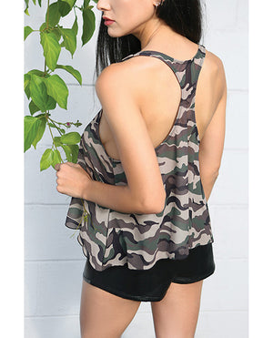 Vibes Savage Af Swing Top Camouflage