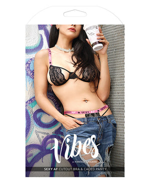 Vibes Sexy Af Cutout Bra and Panty