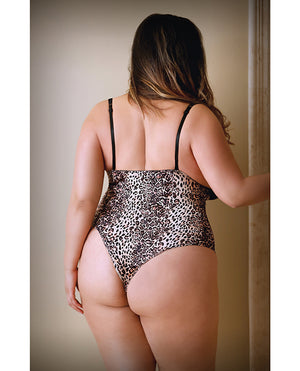 Curve Lorena Teddy Animal Print