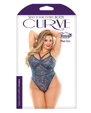 Curve Adriana Caged Lace Teddy