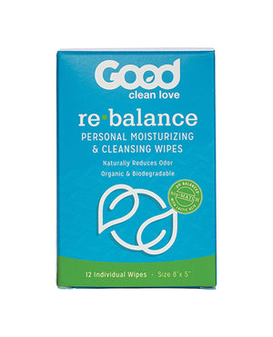 Good Clean Love Rebalance Wipes - Box Of 12