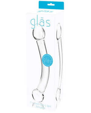 "Glas 7"" Curved Glass G Spot Stimulator - Clear"