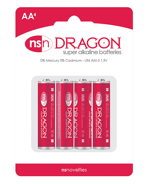 Dragon Alkaline Batteries - Aa Pack Of 4