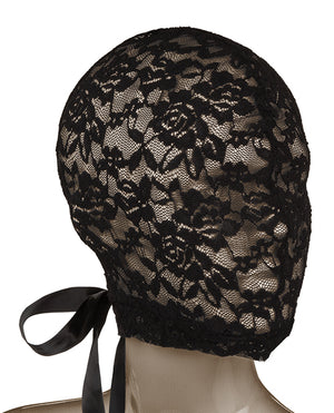 Scandal Corset Lace Hood - Black