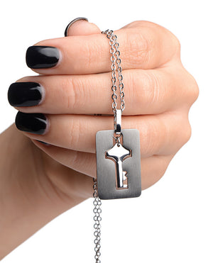 Master Series Cuffed Locking Bracelet W-necklace Key