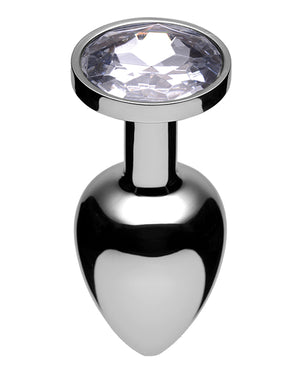 Master Series Lucent Jewel Accented Anal Plug - Diamond
