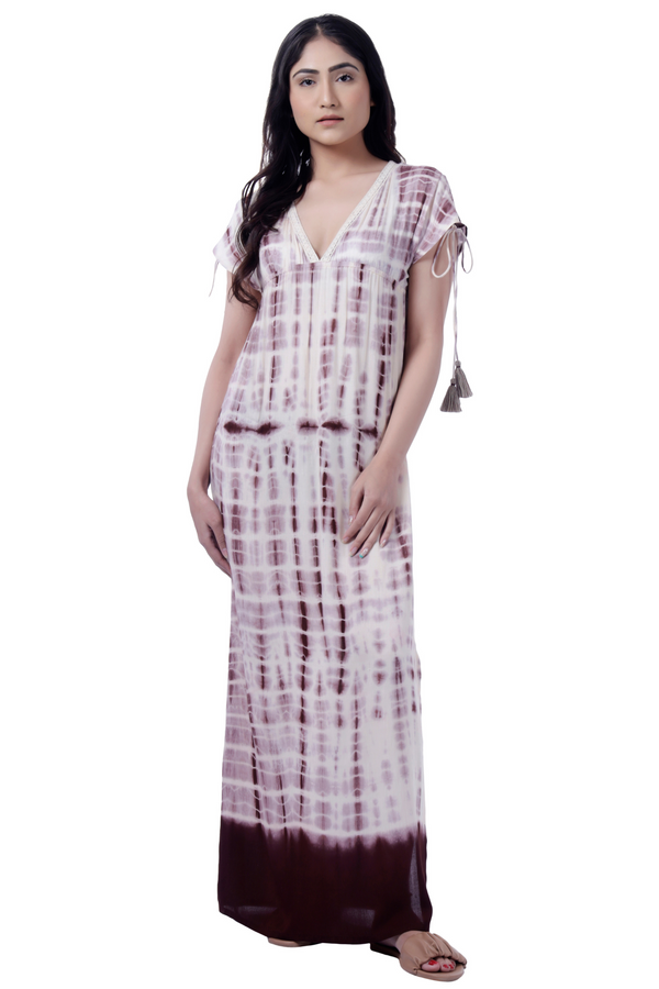Tie Dye Maxi Tunic - Cotton