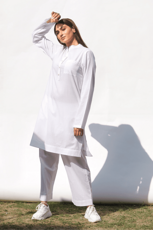 Lily White Basic Kurta