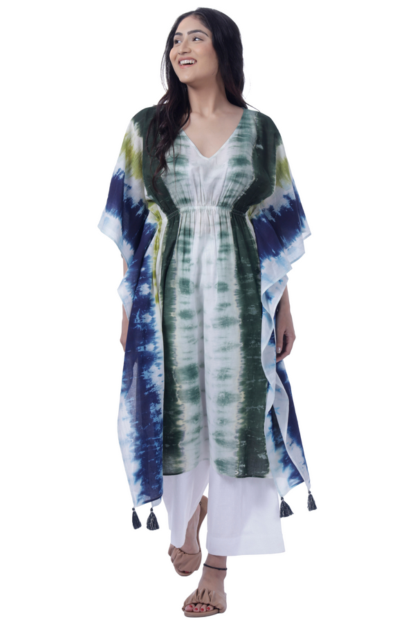Multi Dyed Kaftan - Cotton