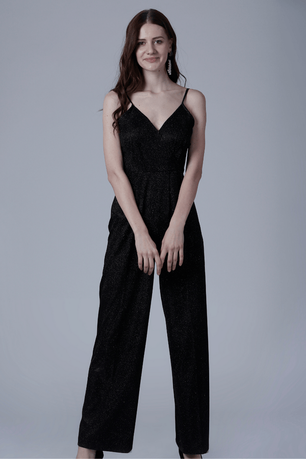Shimmer Black Jumpsuit