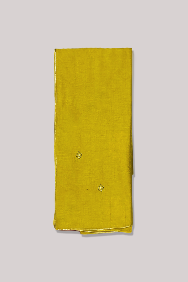 Mustard and Gold Minimal Gota-Zari Play Chanderi Dupatta