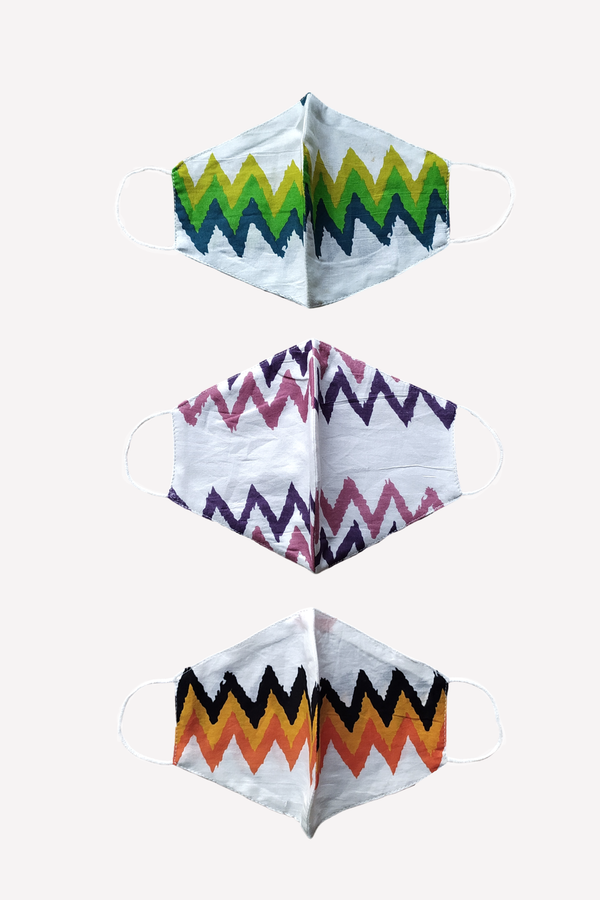 Chevron Streak Masks, Set of 3