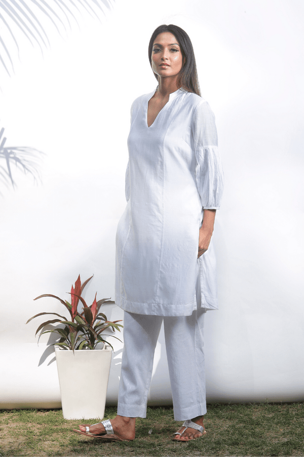 Lily White Chanderi Kurta