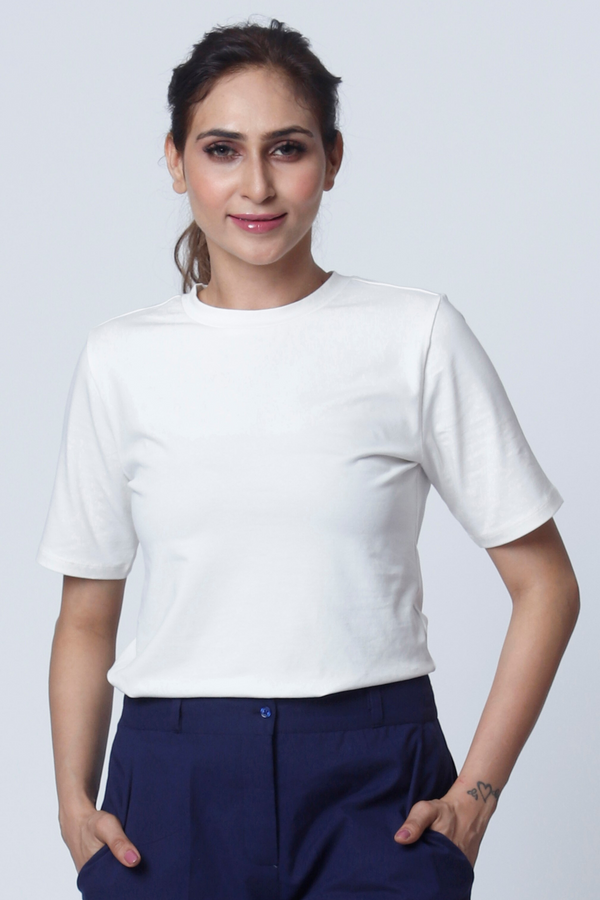 Lily White Basic Tee - Cotton