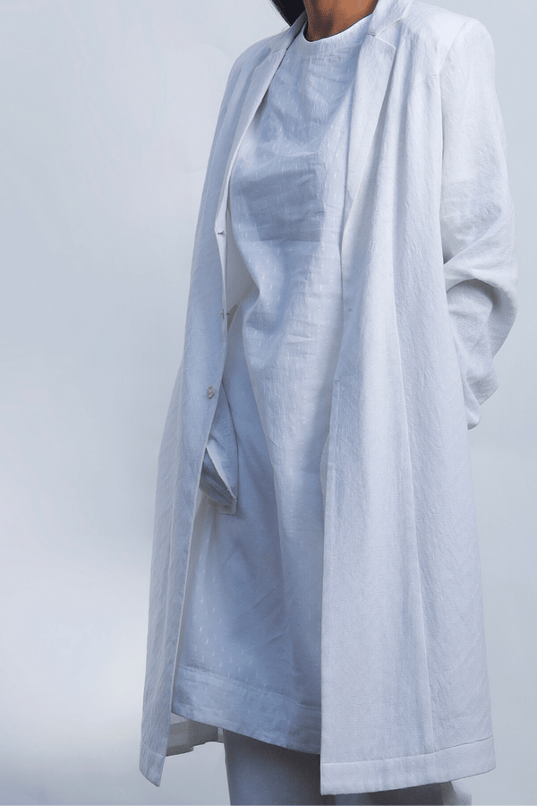 Lily White Cotton Trench