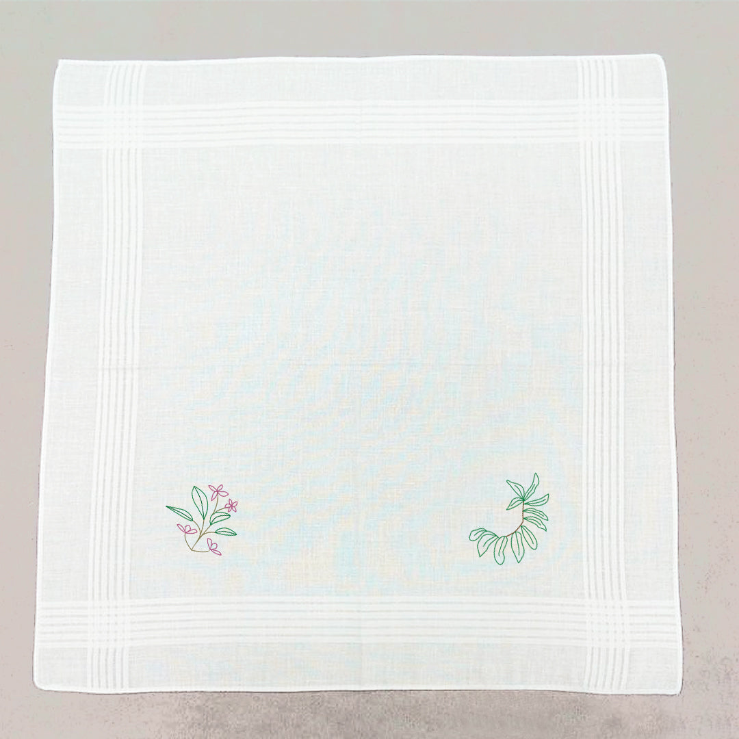 Two Corners Hand Embroidered Panyo