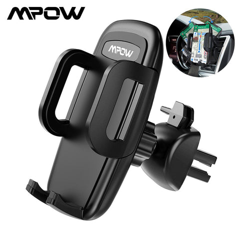 Mpow Air Vent Car Mount Holder Universal Cell Phone Cradle 3-level Adjustable Clamp Mobile Phone Stand Cradle For iPhone X/8/7/6