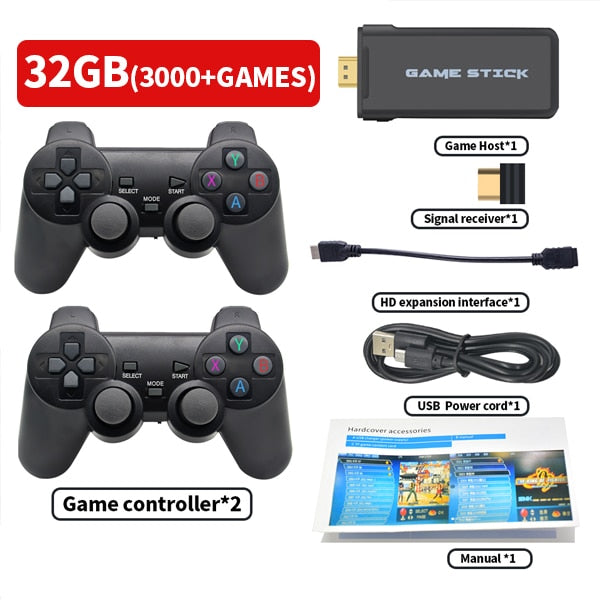 Portable 4K TV Video Game Console With 2.4G Wireless Controller Support CPS PS1 Classic Games Retro Game Console