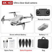 new L900 pro 4K HD dual camera with GPS 5G WIFI FPV real-time transmission brushless motor rc distance 1.2km professional drone
