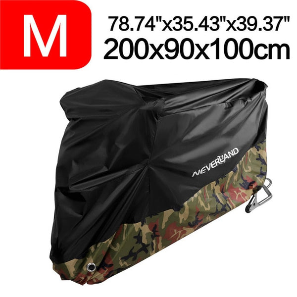 190T Black Blue Design Waterproof Motorcycle Covers Motors Dust Rain Snow UV Protector Cover Indoor Outdoor M L XL XXL XXXL D35