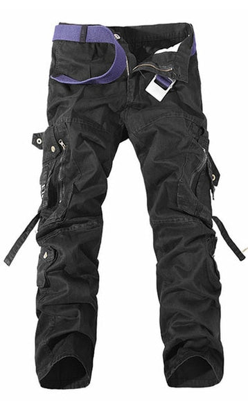 Military Tactical pants men Multi-pocket washed overalls men loose cotton pants male cargo pants for men trousers,size 28-42