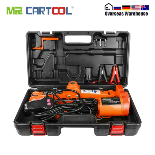 Car Electric Scissor Jack Floor 3 Ton 6600lb DC 12v Lift Screw Jacks Repair Tool Auto Emergency Roadside Tire Change Lifting