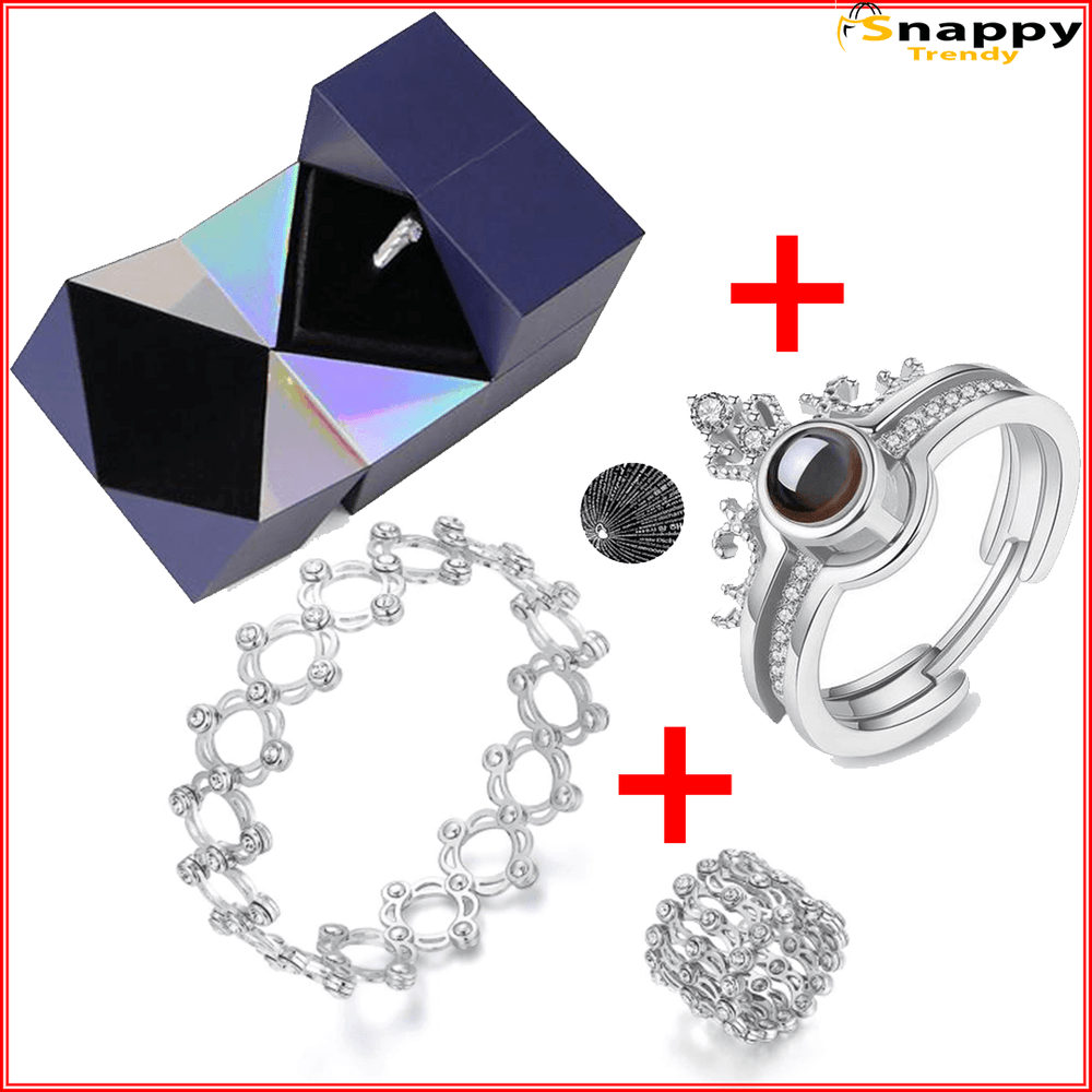 Puzzle Jewelry Box ➕ Magic Bracelet ➕ Love Ring ( 🔥50% Off + Free Shipping 🔥)