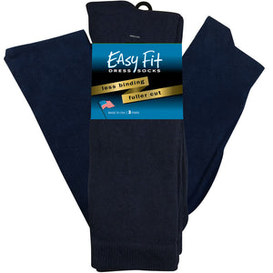 Easy Fit Over the Calf Dress Socks - Navy