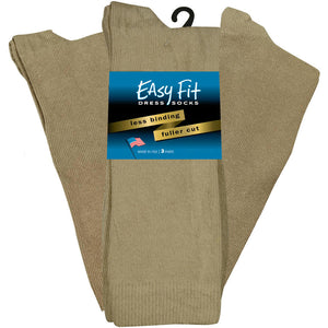 Easy Fit Over the Calf Dress Socks - Tan