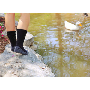 Loose Fit Stays Up Cotton Casual Crew Socks