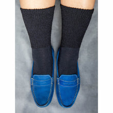 Load image into Gallery viewer, Loose Fit Stays Up Solid Merino Wool Socks