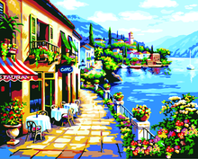 Landscape DIY Paint By Numbers Kits Seaside Alley DIY Paint By Numbers