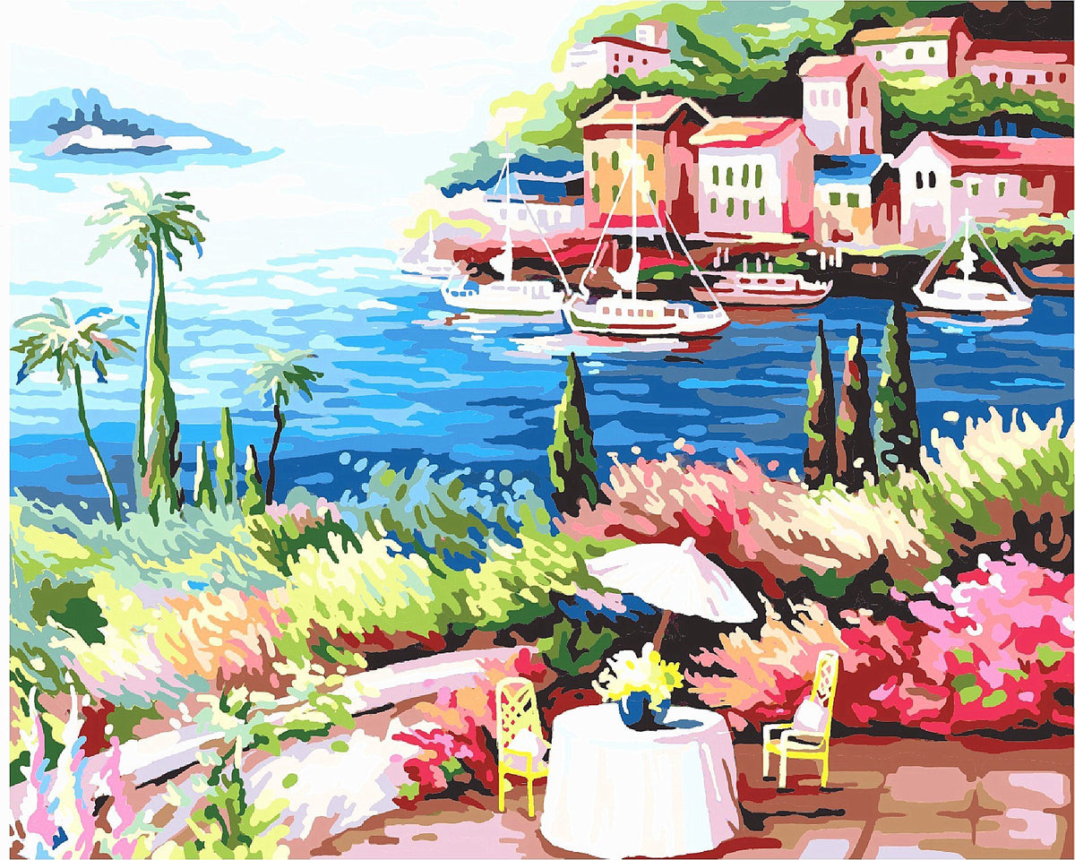 Landscape DIY Paint By Numbers Kits Beautiful Bay DIY Paint By Numbers