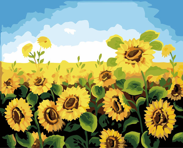 Sunflower DIY Paint By Numbers Kits Creative Wall Art DIY Painting Home Decor