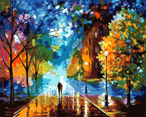 Road To Happiness DIY Paint By Numbers Kits Creative Wall Art DIY Handmade Gift Home Decor