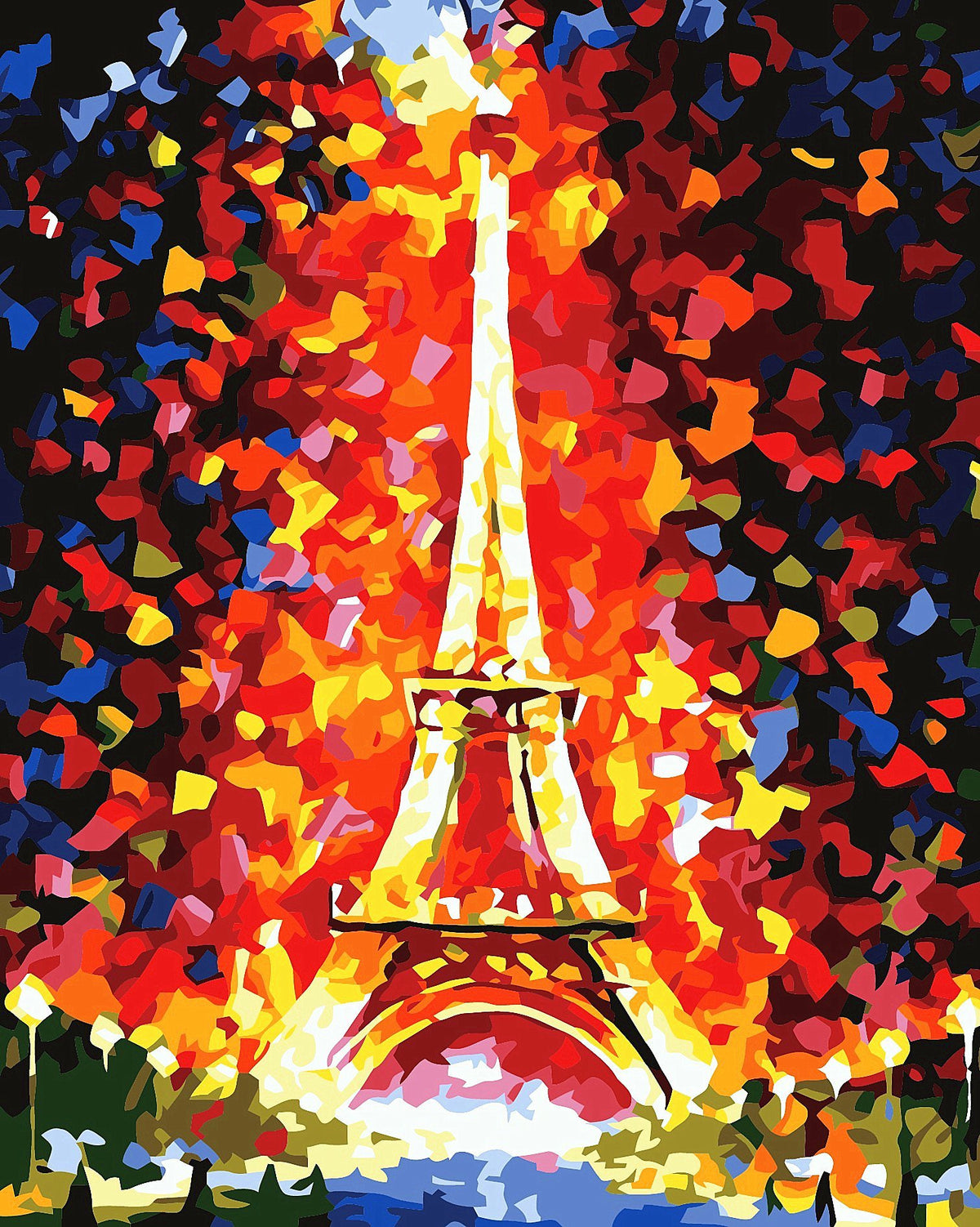 Colorful Watercolor Style Eiffel Tower DIY Paint By Numbers Kits Creative Wall Art DIY Handmade Gift Home Decor