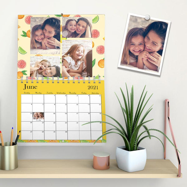 Personalized Wall Calendar Photo Wall Calendar Sweet Memories Gift