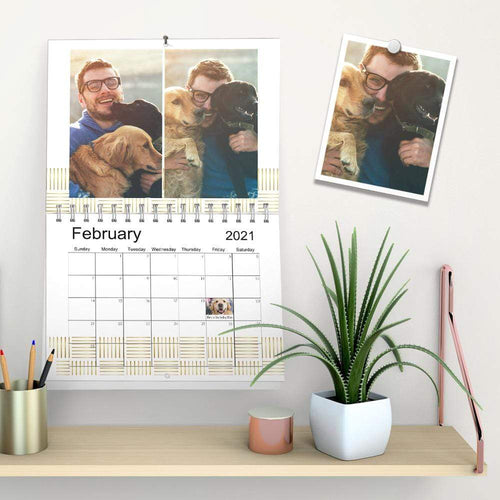 Custom Photo Monthly Wall Calendar For Lovely Pet