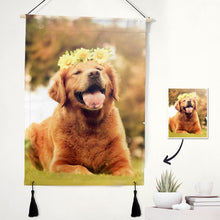 Custom Cute Pet Photo Tapestry - Pet Wall Art Home Decor Tapestry